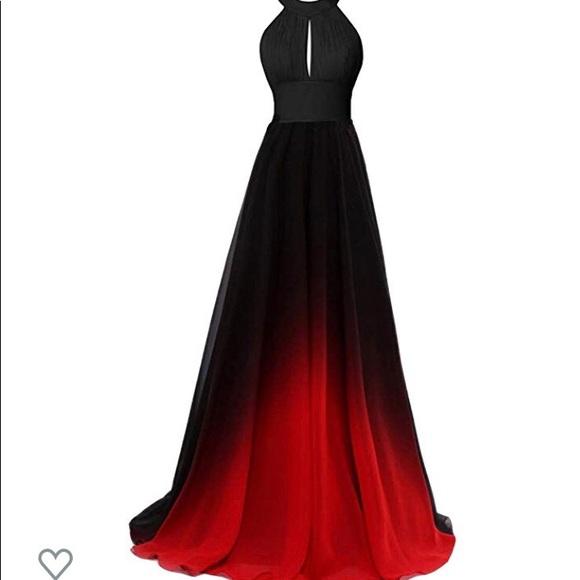 Dresses | Black Red Ombr Formal Dress